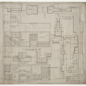 Interior elevations, various details