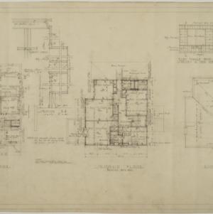 First floor plan, second floor plan, roof plan