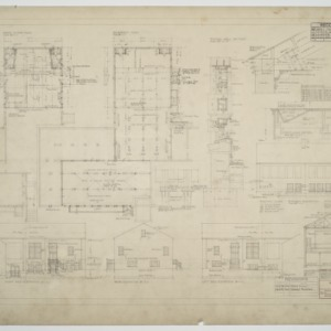 Floor plans, elevations, and various details