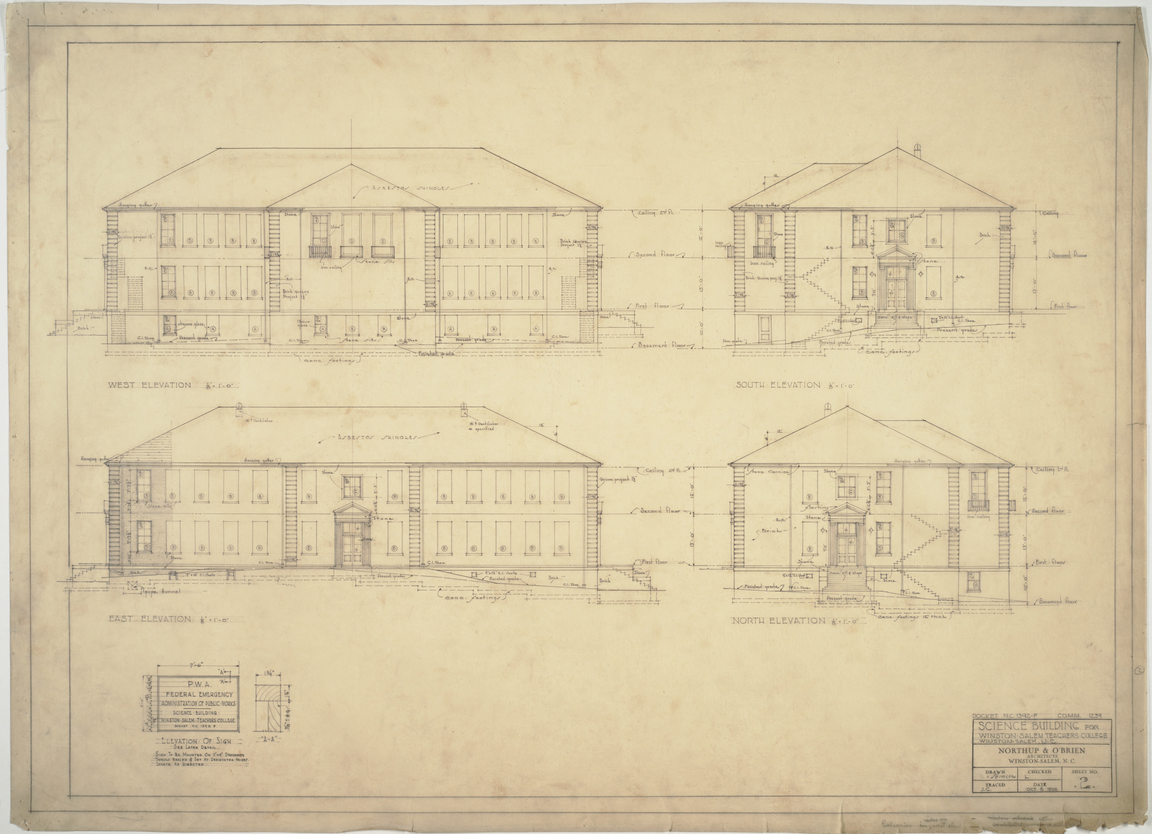 Front elevation side elevations rear elevation winston for What is rear elevation