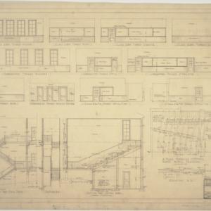 Door details, stairway sections