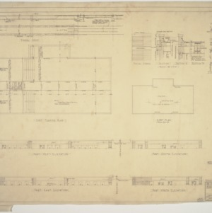 Roof plan, roof elevations, roof framing plan