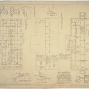 First floor framing plan, second floor framing plan, roof framing plan