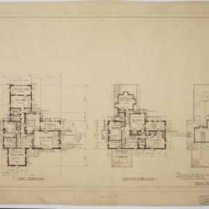 First floor plan, second floor plan, third floor plan