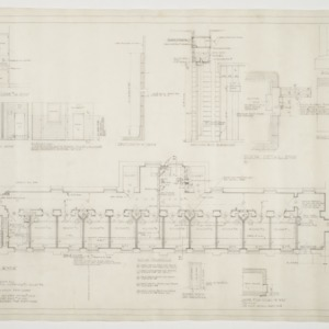 Floor plan, various details