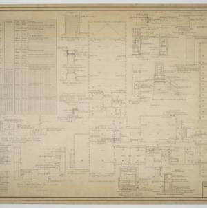 First floor plan, various details