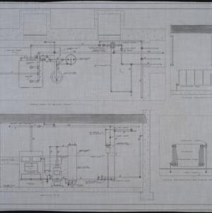 Detail plan of boiler room, section