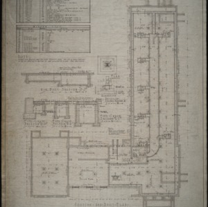 Footing and duct plan