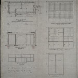 Interior details, vault plan