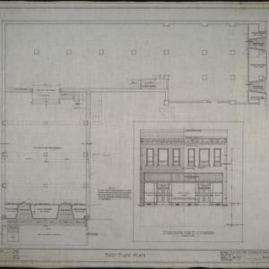 First floor plan, Wilmington Street elevation