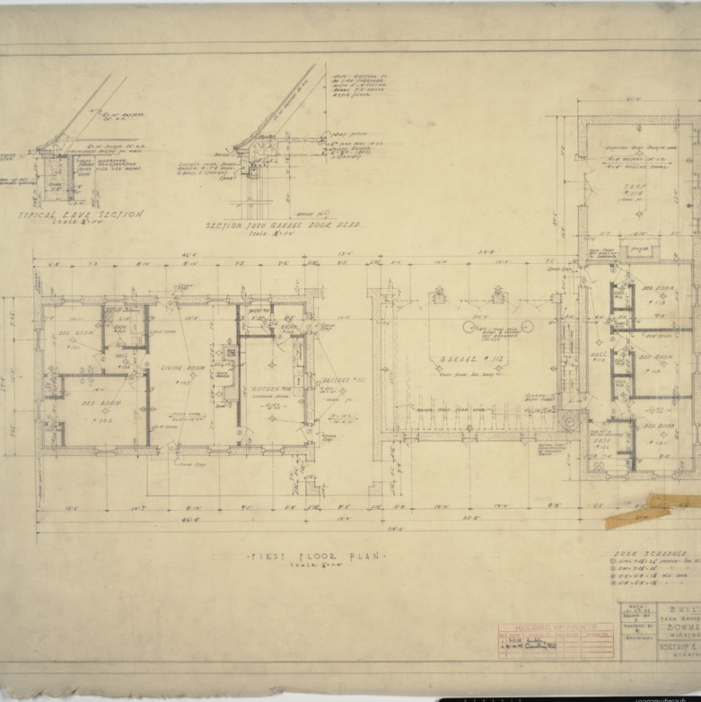 Building 'A' first floor plan