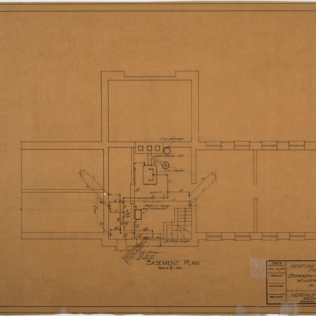 Heating Building 'C' basement plan