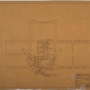 Heating Building 'C' basement plan