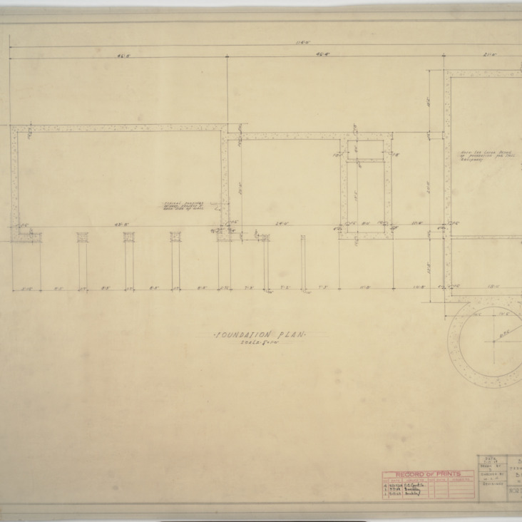 Building 'B' foundation plan