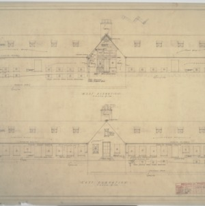 Building 'C' east elevation, west elevation