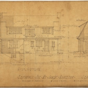 Rear elevation, right end elevation