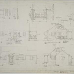 Elevations, porch details, plan 1