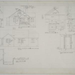 Elevations, details of porch, plan no. 3