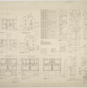Floor plans, elevations, window details
