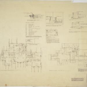First floor plan, basement plan