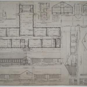 First floor plan, roof plan, elevations