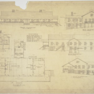 Elevations, floor plan