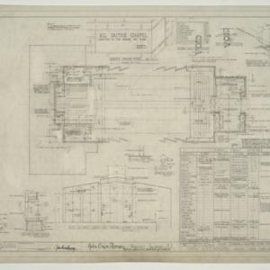 Chapel - State Hospital, Organ Chamber and Balcony Floor Plan