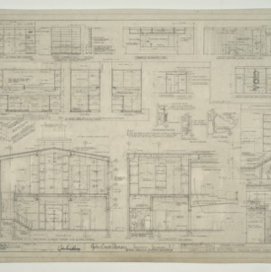 Chapel - State Hospital, Interior Elevations