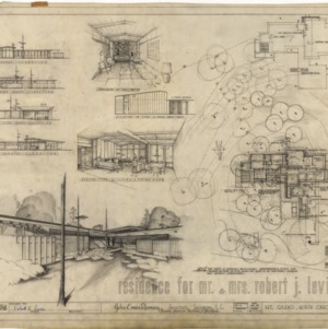 Residence for Mr. and Mrs. Robert J. Levin, Preliminary Drawings