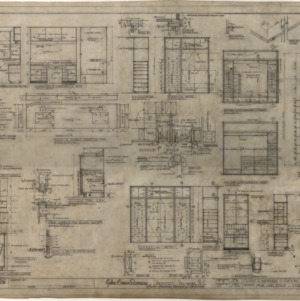 Residence for Mr. and Mrs. Robert J. Levin, Closet and Bathroom Elevations and Details