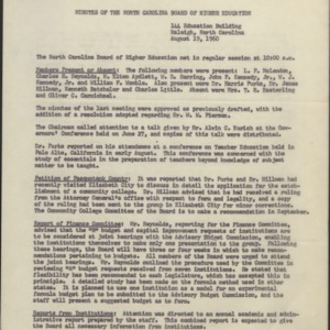 Board of Higher Education (K-40): Internal documents, minutes, reports, correspondence (3 of 3), 1960
