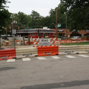 Watauga Club Gate before construction during street project