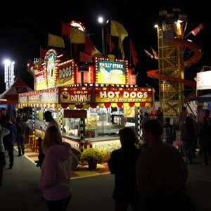 Food stand at North Carolina State Fair