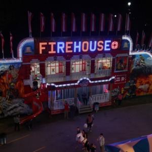 Flyer ride at night, North Carolina State Fair 2016