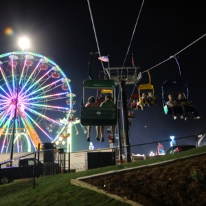 Flyer ride at night, North Carolina State Fair 2016