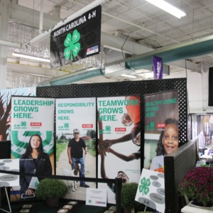 4-H booth at North Carolina State Fair, 2018