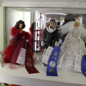 Entries for doll outfit competition at North Carolina State Fair, 2018