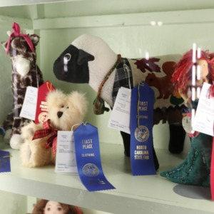 Winners for stuffed animal competition at North Carolina State Fair, 2018