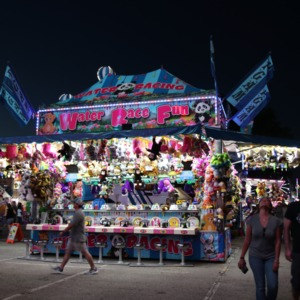 Prize booths at North Carolina State Fair, 2018