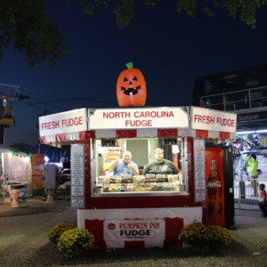 Fudge stand at North Carolina State Fair, 2018