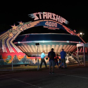Starship 4000 graviton ride at North Carolina State Fair, 2018