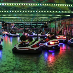 Bumper cars at North Carolina State Fair, 2018