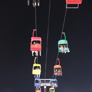 Chair lift ride at North Carolina State Fair, 2018