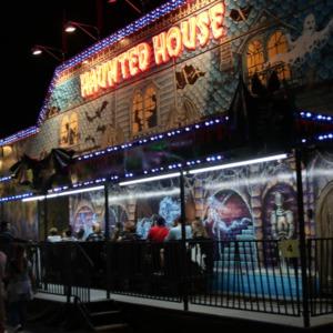 Haunted House ride at North Carolina State Fair, 2018