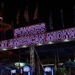 Powers Great American Midways booth North Carolina State Fair, 2018