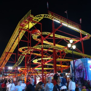 Roller coaster at North Carolina State Fair, 2018