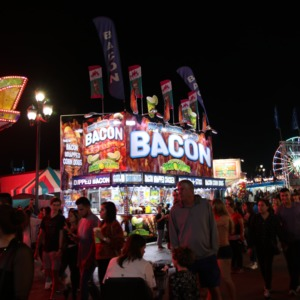 Food stands at North Carolina State Fair, 2018