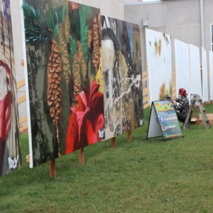 Large paintings at North Carolina State Fair, 2018