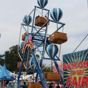 Small ferris wheel at North Carolina State Fair, 2018