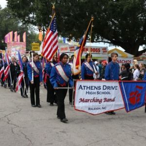 Athens Drive High School Marching Band at North Carolina State Fair, 2018